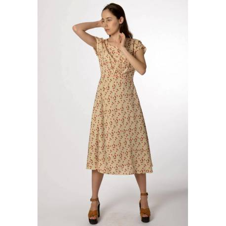 16bff59d4725 MADEVA - Paris   Dress Vivienne (cream prints)    Fashion Designer ...