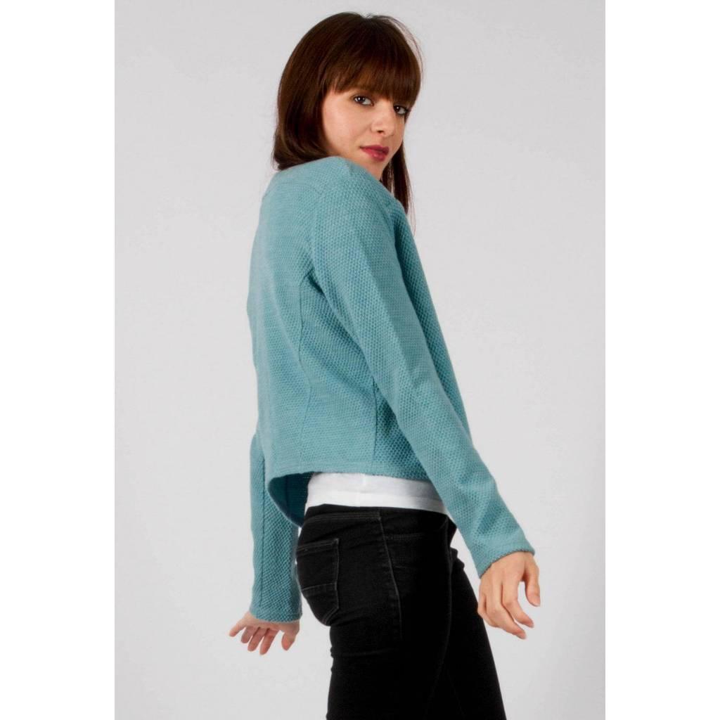 madeva paris veste gillet rumi bleu ciel cr ateur de mode en s rie tr s limit e. Black Bedroom Furniture Sets. Home Design Ideas