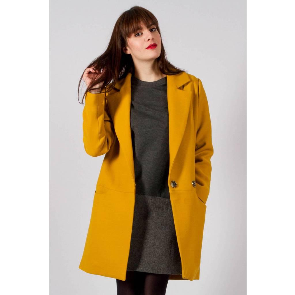 madeva paris manteau noa jaune cr ateur de mode en s rie tr s limit e fabriqu en. Black Bedroom Furniture Sets. Home Design Ideas