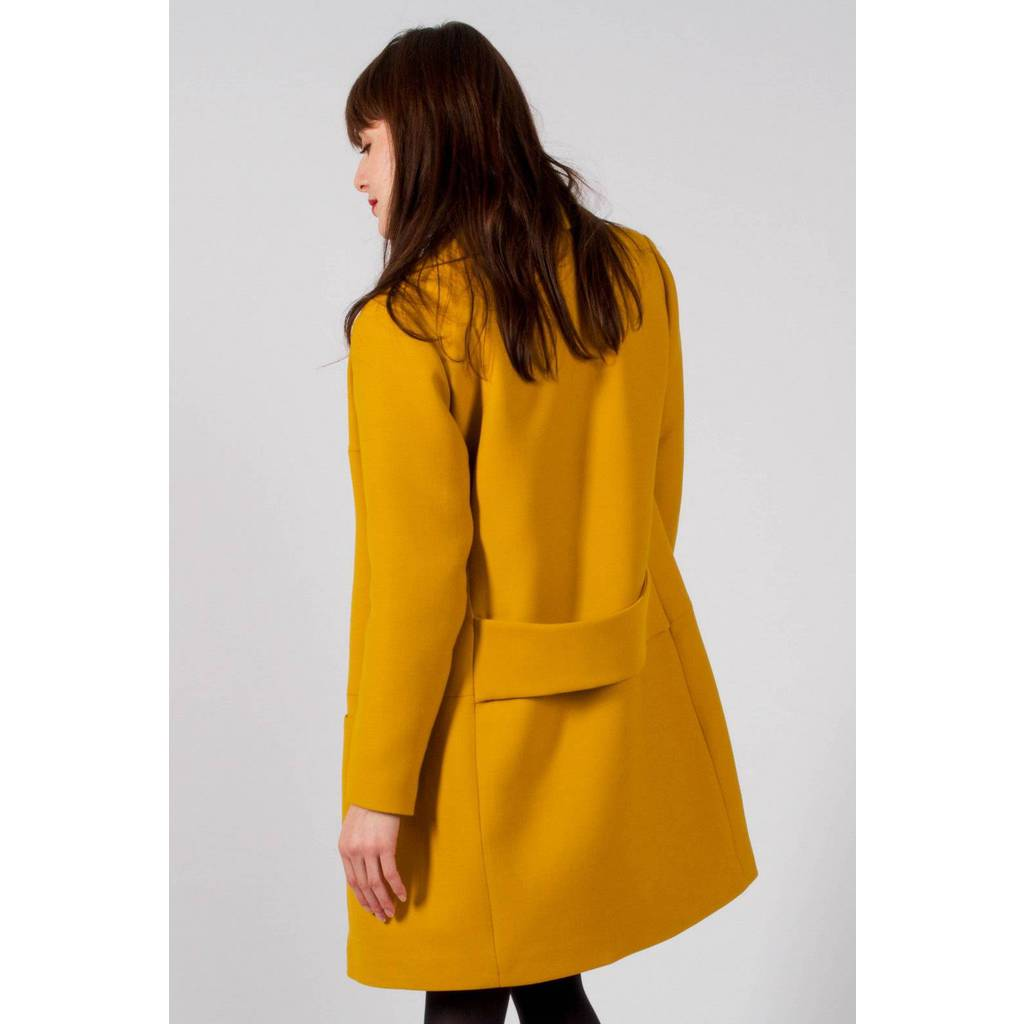 Madeva paris manteau noa jaune cr ateur de mode en s rie tr s lim - Jaune moutarde decor ...