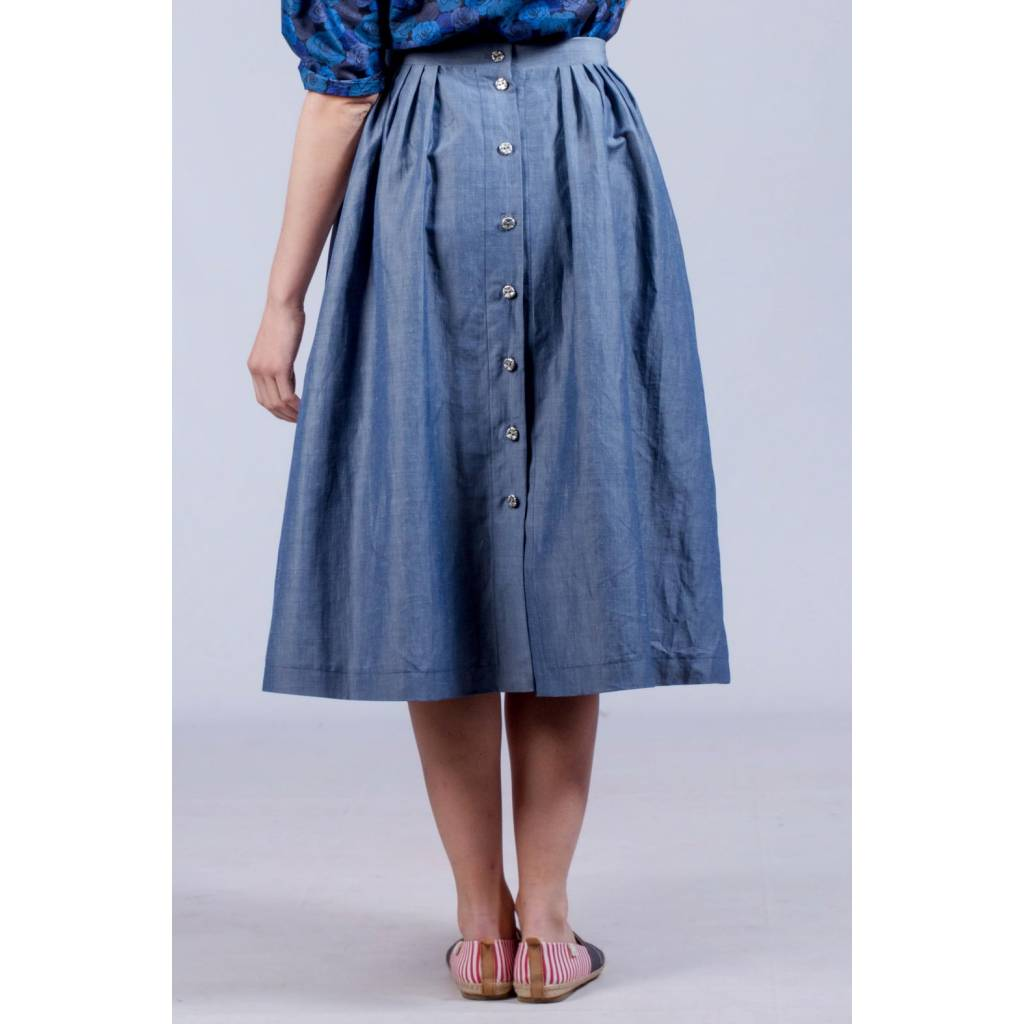 Top MADEVA - Paris : Jupe Cléo (bleu) // Créateur de Mode // En série  CE61