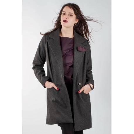 madeva paris manteau noa v2016 gris anthracite cr ateur de mode en s rie tr s. Black Bedroom Furniture Sets. Home Design Ideas