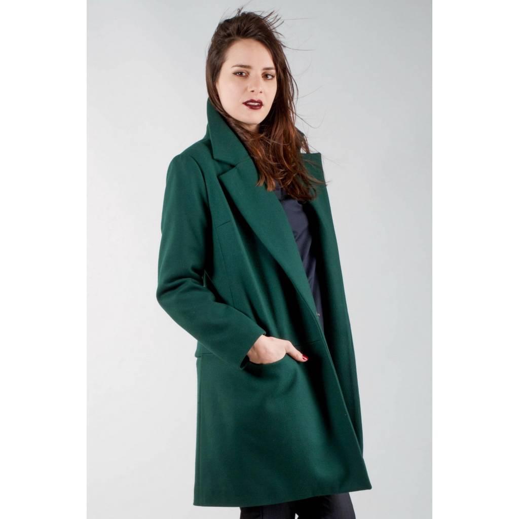 madeva paris manteau noa v2016 vert meraude cr ateur de mode en s rie tr s limit e. Black Bedroom Furniture Sets. Home Design Ideas