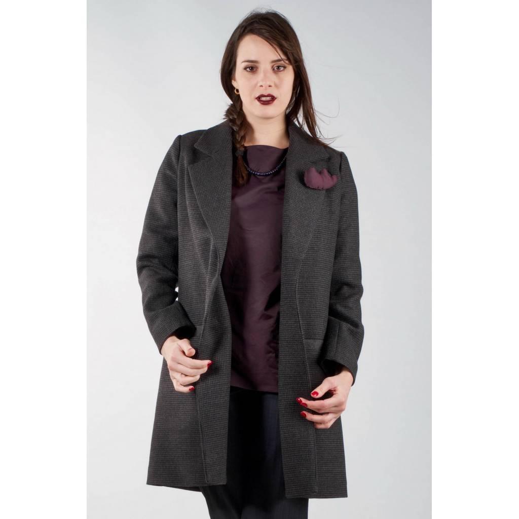 madeva paris manteau noa v2016 noir cr ateur de mode en s rie tr s limit e cousu. Black Bedroom Furniture Sets. Home Design Ideas