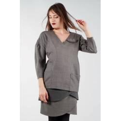 Blouse Carla (gris-beige)