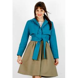 Trench Alina (beige/turquoise) [BI-COLORE]