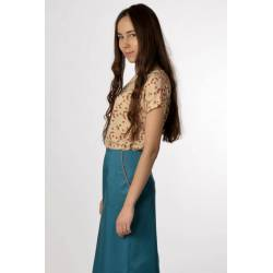 Skirt Dita (blueish green)