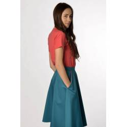 Skirt Bettina (blueish green)